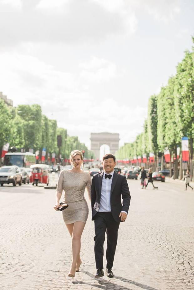 Asian Guy White Girl Paris Proposal