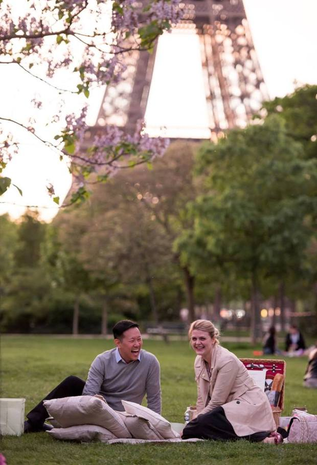 Asian Guy White Girl Paris Proposal