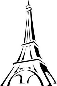 Eiffel Tower Paris Logo Vector Art Tour Eiffel Illustration Clip Art France